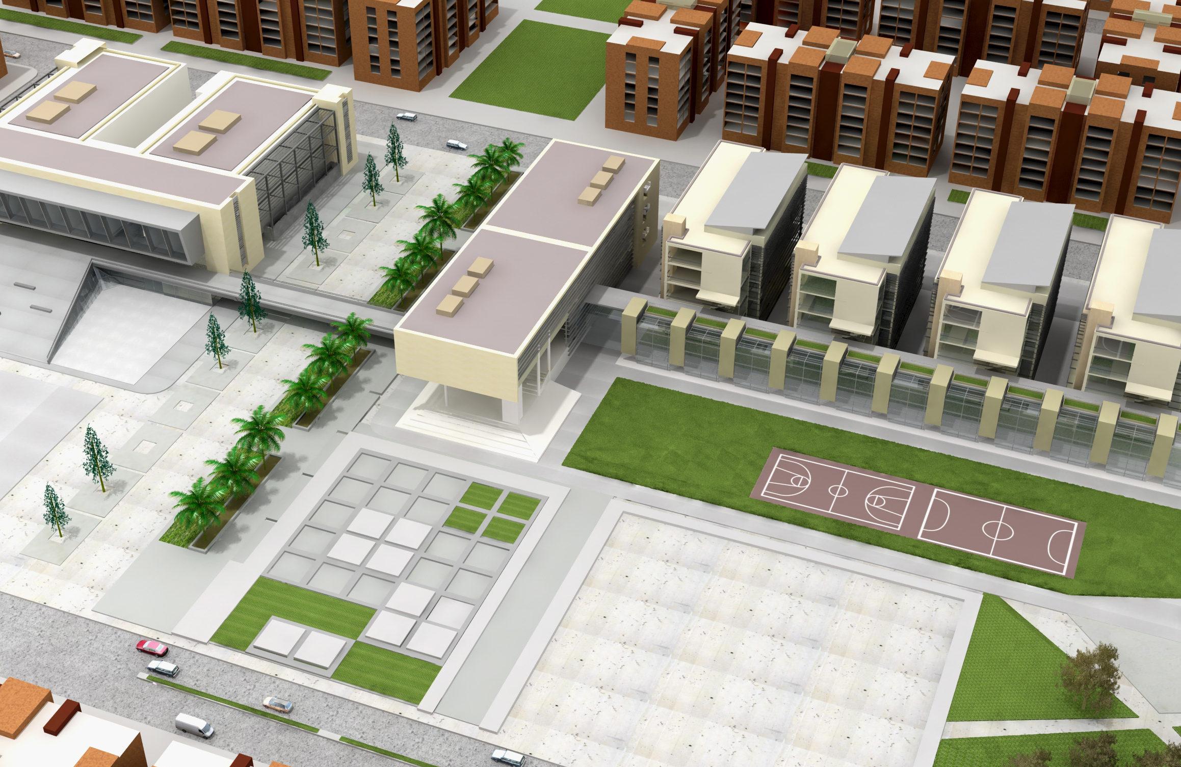 Plan urbain 3D